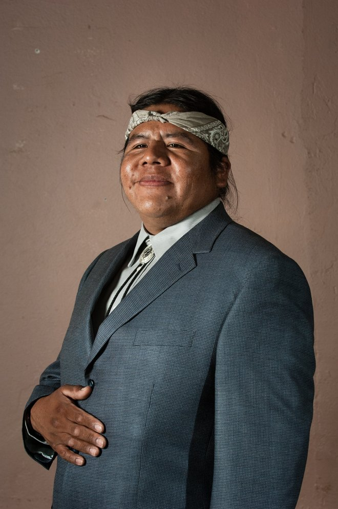 Portrait of Havasupai Tribal Chairman in Phoenix, Arizona