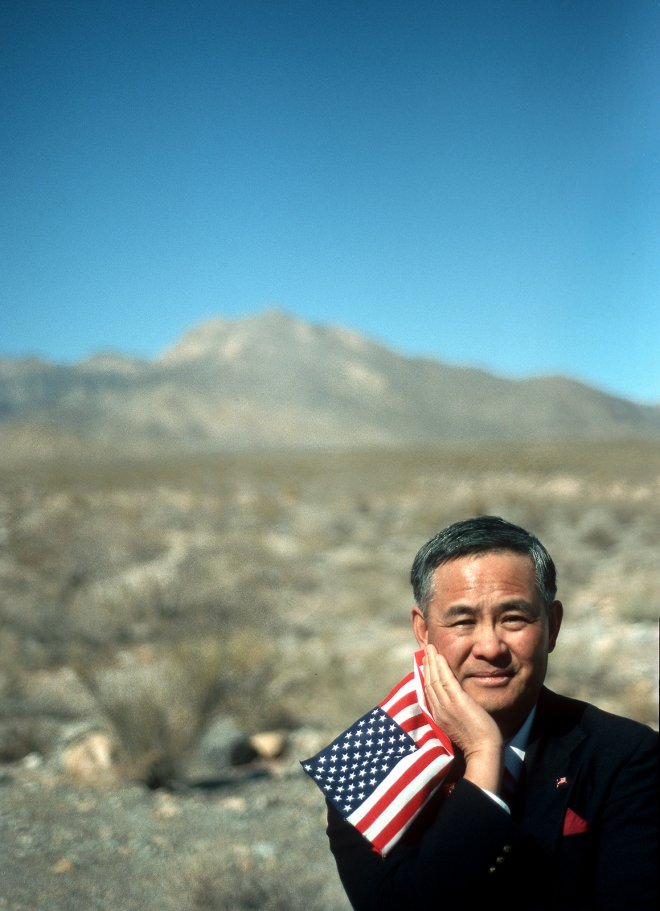 Portrait of Army Colonel Ed Wakayama, born in Manzanar Internment Camp