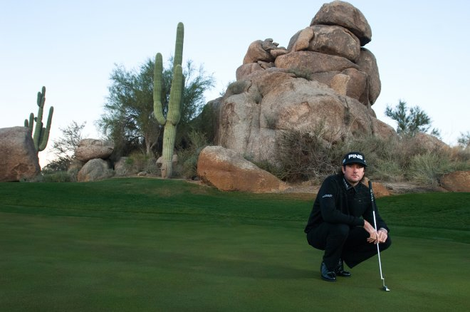Portrait of PGA Golf pro Bubba Watson in Phoenix, Arizona