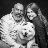 Phoenix Arizona Pet Portrait of a Chow and his family