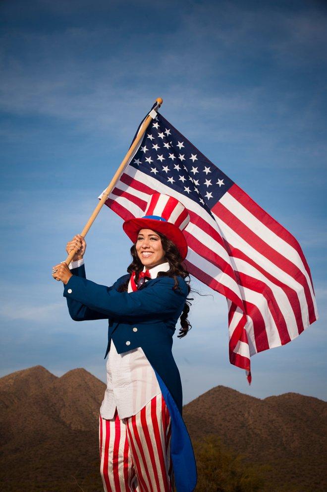 American Flag, Phoenix-Scottsdale, Arziona Portraits