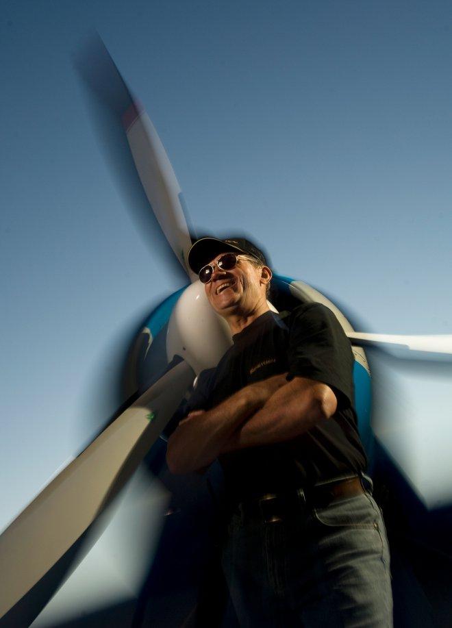 Russian Stunt Pilot Sergei Boriak in Phoenix, Arizona